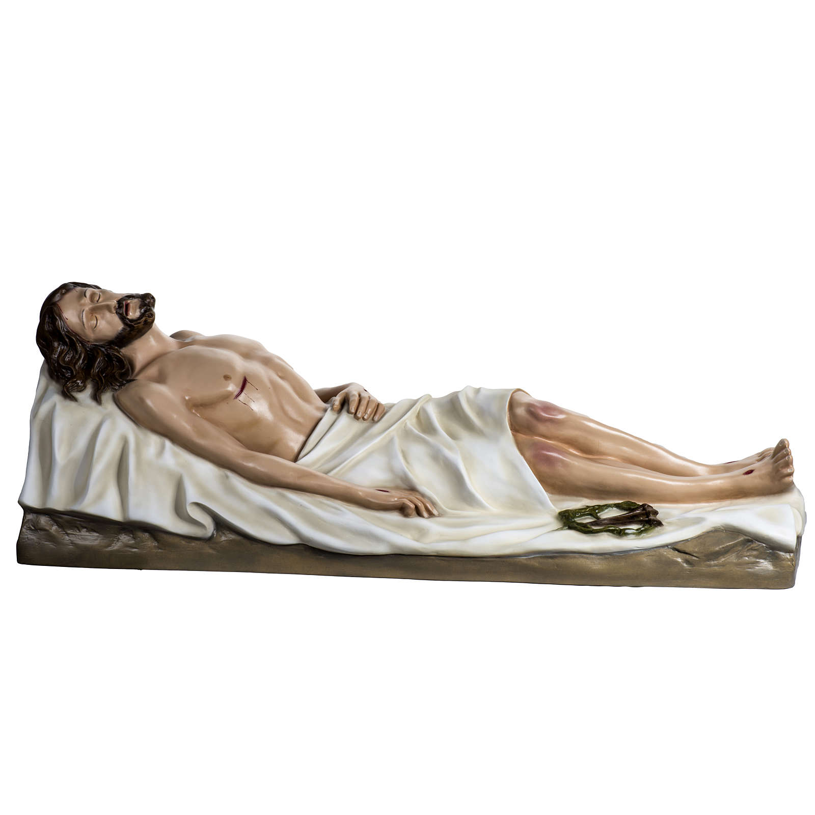 Gesù Morto 140 cm fibra di vetro colorata 4
