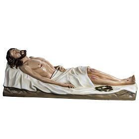 Gesù Morto 140 cm fibra di vetro colorata s1