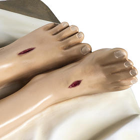 Gesù Morto 140 cm fibra di vetro colorata s7