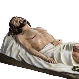 Gesù Morto 140 cm fibra di vetro colorata s8