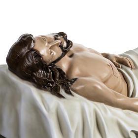 Gesù Morto 140 cm fibra di vetro colorata s9