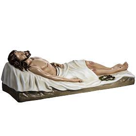 Gesù Morto 140 cm fibra di vetro colorata s10