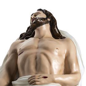 Gesù Morto 140 cm fibra di vetro colorata s13