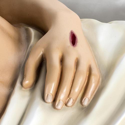 Gesù Morto 140 cm fibra di vetro colorata 5