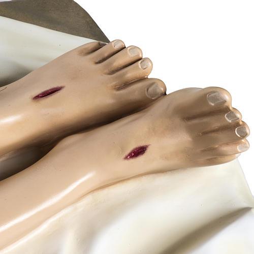 Gesù Morto 140 cm fibra di vetro colorata 7