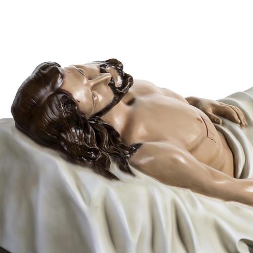 Gesù Morto 140 cm fibra di vetro colorata 9