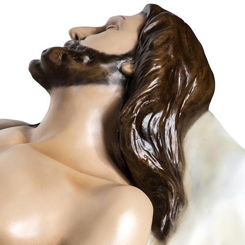 Gesù Morto 140 cm fibra di vetro colorata 12