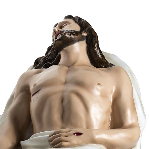 Gesù Morto 140 cm fibra di vetro colorata 13