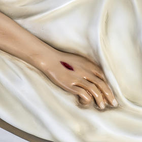 Deceased Jesus in painted fiberglass, 140 cm s4