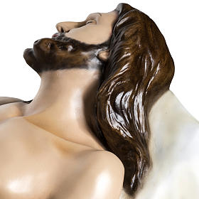 Deceased Jesus in painted fiberglass, 140 cm s12