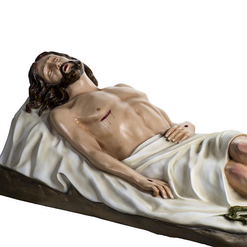 Deceased Jesus in painted fiberglass, 140 cm 8