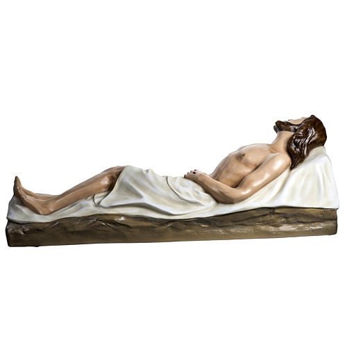 Deceased Jesus in painted fiberglass, 140 cm 11