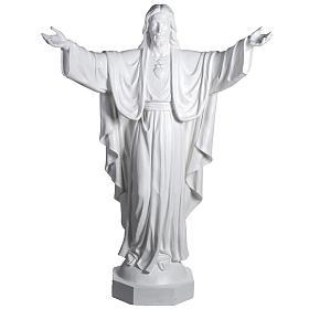 Gesù Redentore 200 cm vetroresina bianca s1