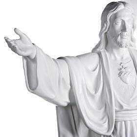 Gesù Redentore 200 cm vetroresina bianca s4