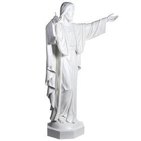 Gesù Redentore 200 cm vetroresina bianca s5
