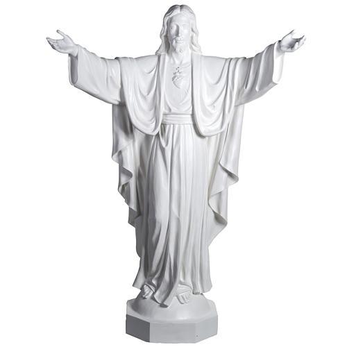 Gesù Redentore 200 cm vetroresina bianca 1