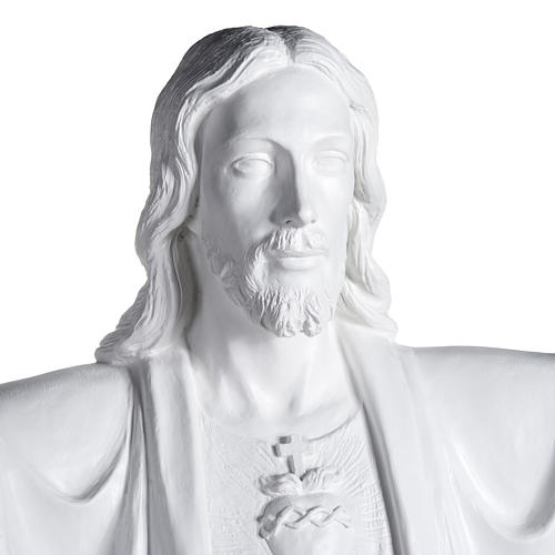Gesù Redentore 200 cm vetroresina bianca 2
