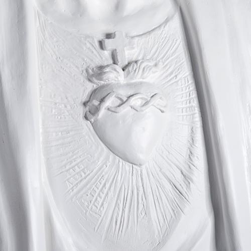 Gesù Redentore 200 cm vetroresina bianca 3