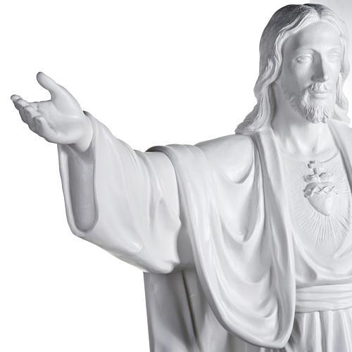 Gesù Redentore 200 cm vetroresina bianca 4