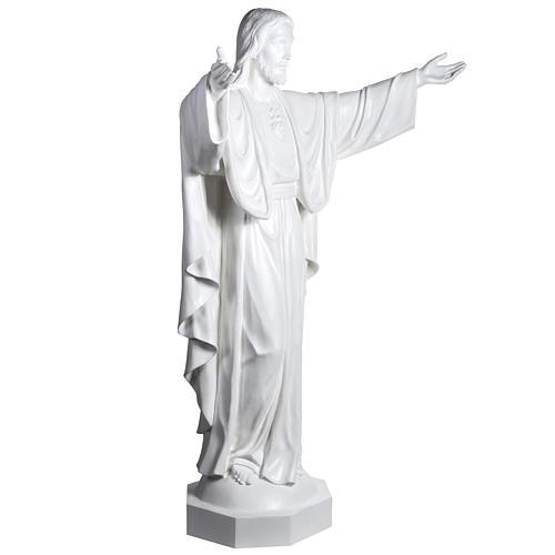 Gesù Redentore 200 cm vetroresina bianca 5