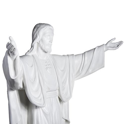 Gesù Redentore 200 cm vetroresina bianca 6