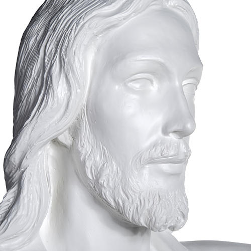 Gesù Redentore 200 cm vetroresina bianca 9