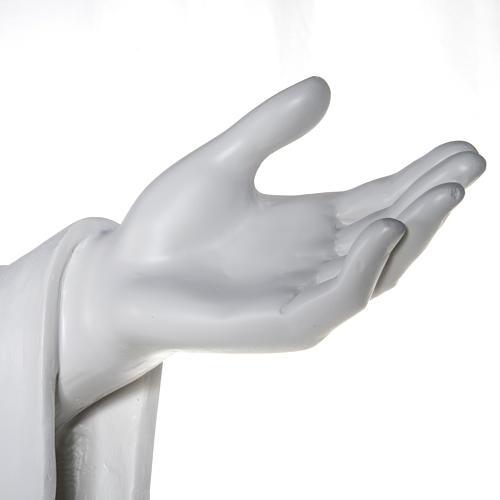 Gesù Redentore 200 cm vetroresina bianca 10