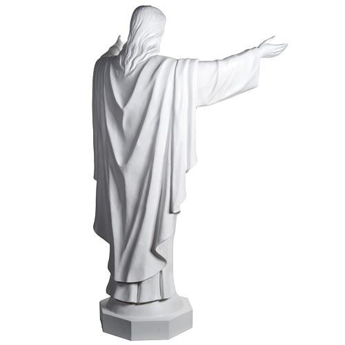 Gesù Redentore 200 cm vetroresina bianca 11