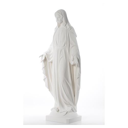 Statue, Wundertätige Madonna, 100 cm, Fiberglas, weiß