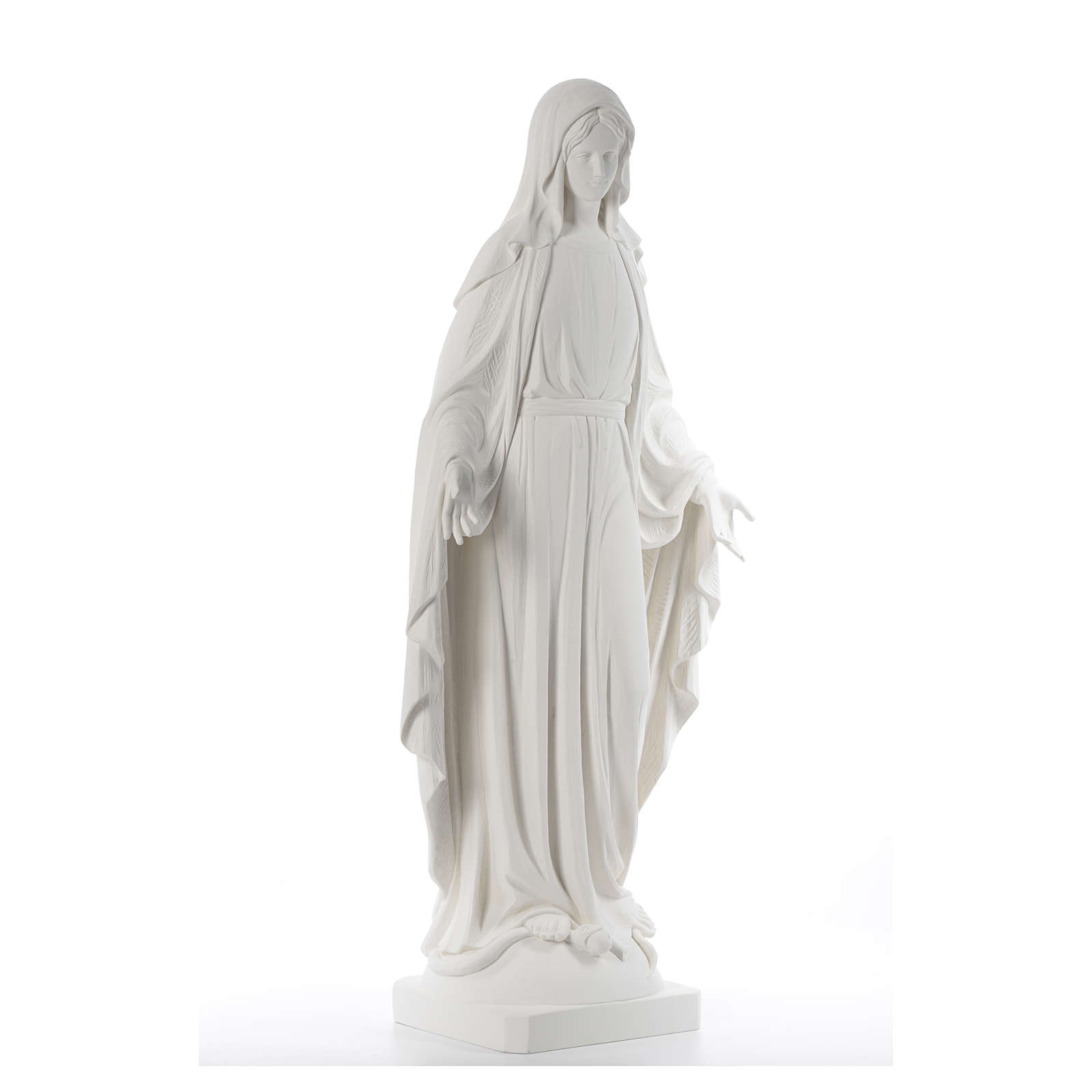 Our Lady of Miracles fiberglass statue, 100 cm 4