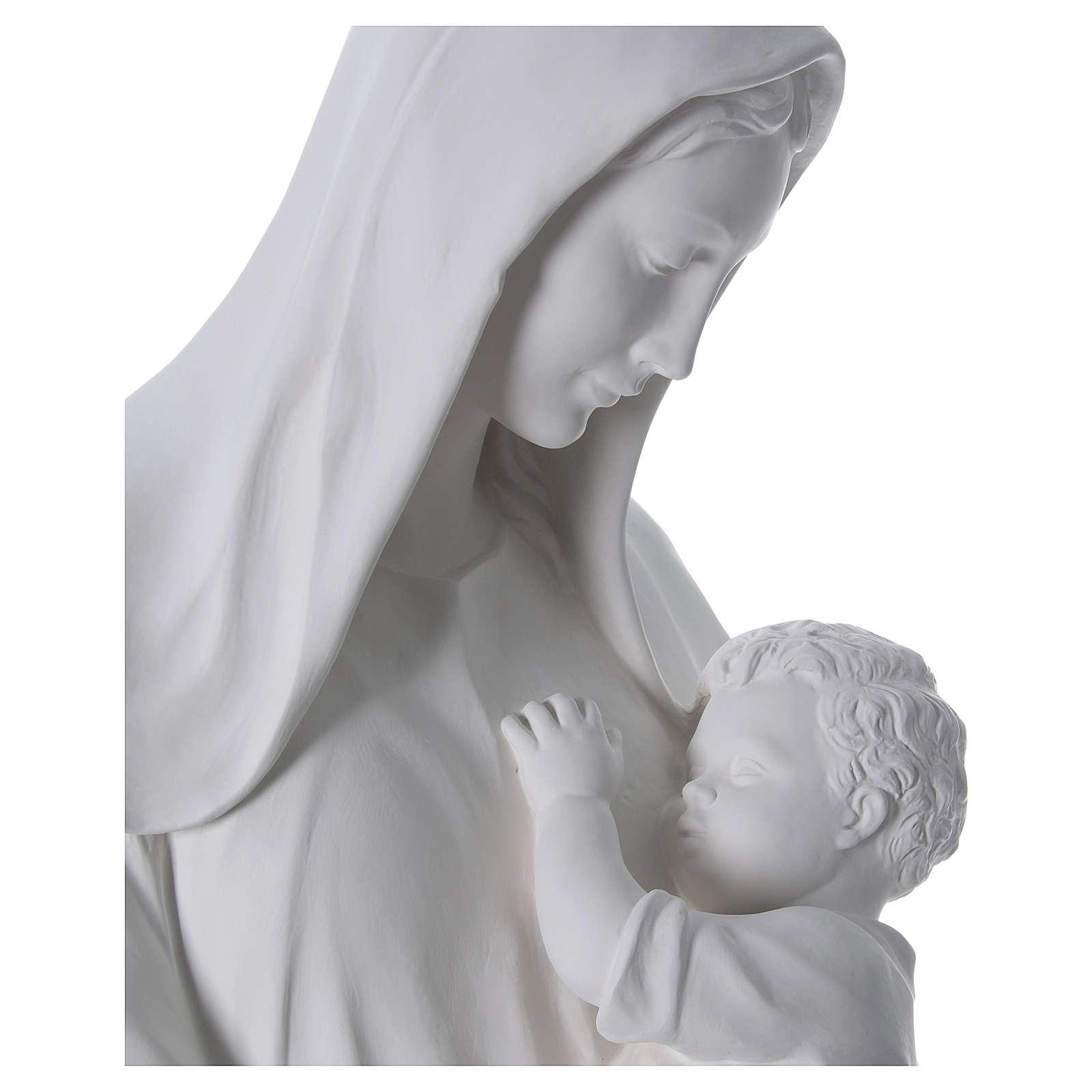 Virgen con niño 170 cm. fibra de vidrio blanca 4