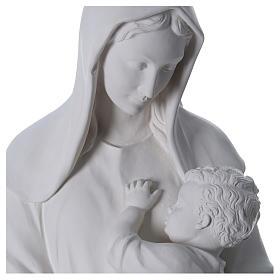 Virgen con niño 170 cm. fibra de vidrio blanca s2