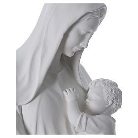 Virgen con niño 170 cm. fibra de vidrio blanca s4