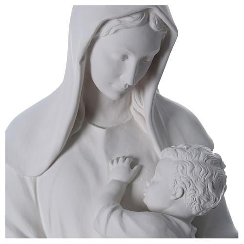 Virgen con niño 170 cm. fibra de vidrio blanca 2