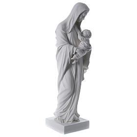 Madonna con bambino 170 cm vetroresina bianca s5