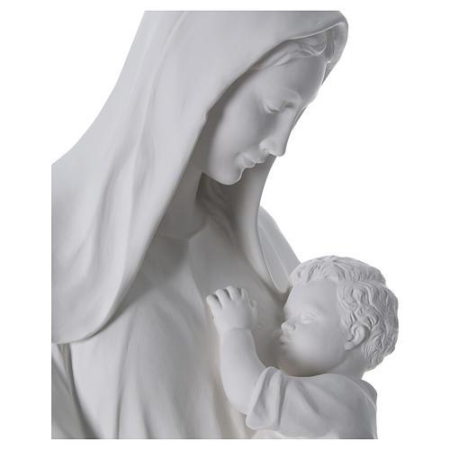 Madonna con bambino 170 cm vetroresina bianca 4