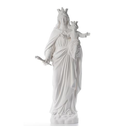 María Auxiliadora 120 cm. fibra de vidrio blanca 1