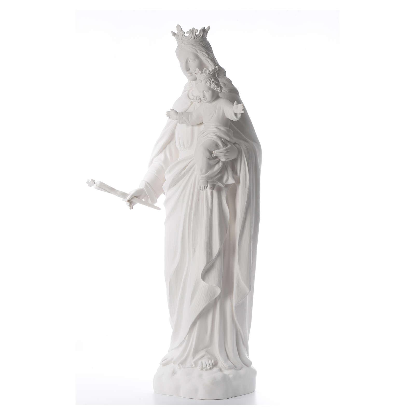 Maria Ausiliatrice cm 120 cm vetroresina bianca 4
