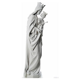 Maria Ausiliatrice cm 180 vetroresina bianca s4