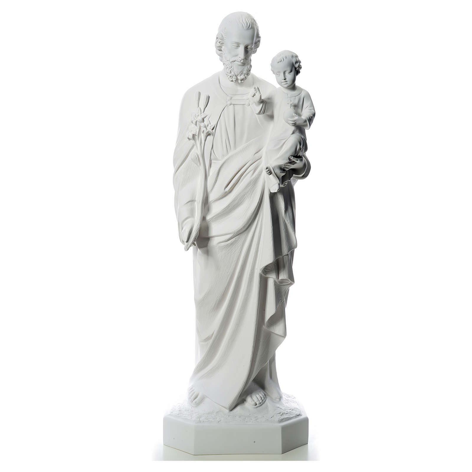 Statue St Joseph 160 cm fibre de verre 4