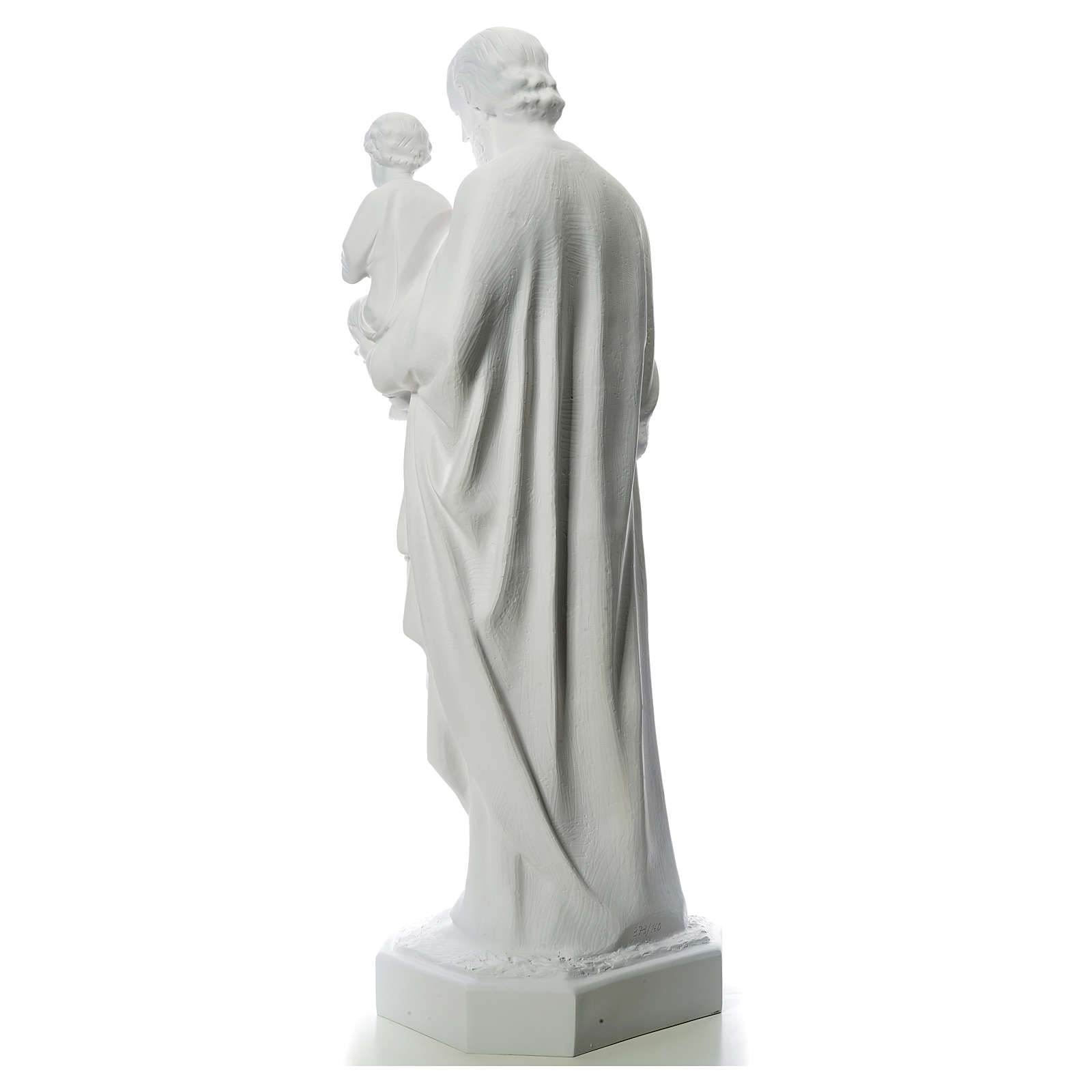 Statua San Giuseppe 160 cm vetroresina bianca 4