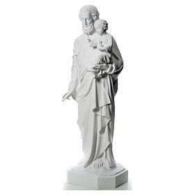 Statua San Giuseppe 160 cm vetroresina bianca s2