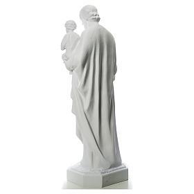Statua San Giuseppe 160 cm vetroresina bianca s3