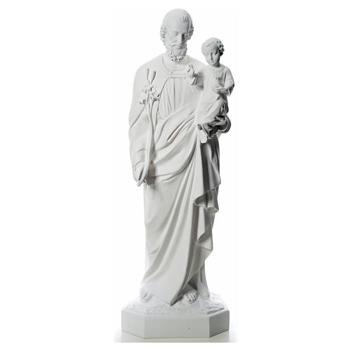 Statua San Giuseppe 160 cm vetroresina bianca 1