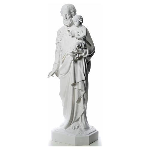 Statua San Giuseppe 160 cm vetroresina bianca 2