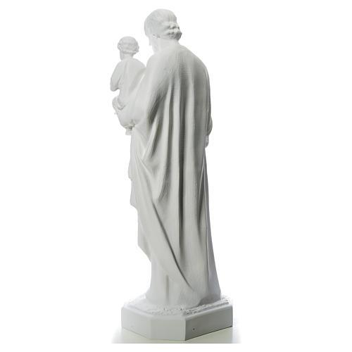 Statua San Giuseppe 160 cm vetroresina bianca 3
