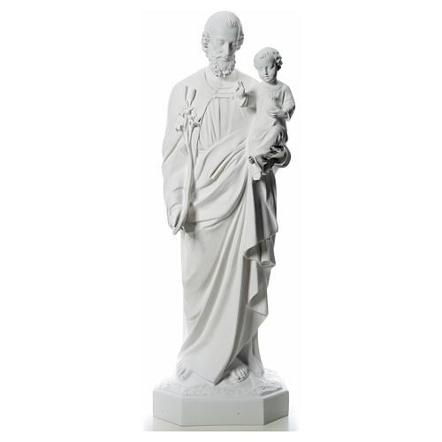 Imagem São José 160 cm fibra vidro branca 1