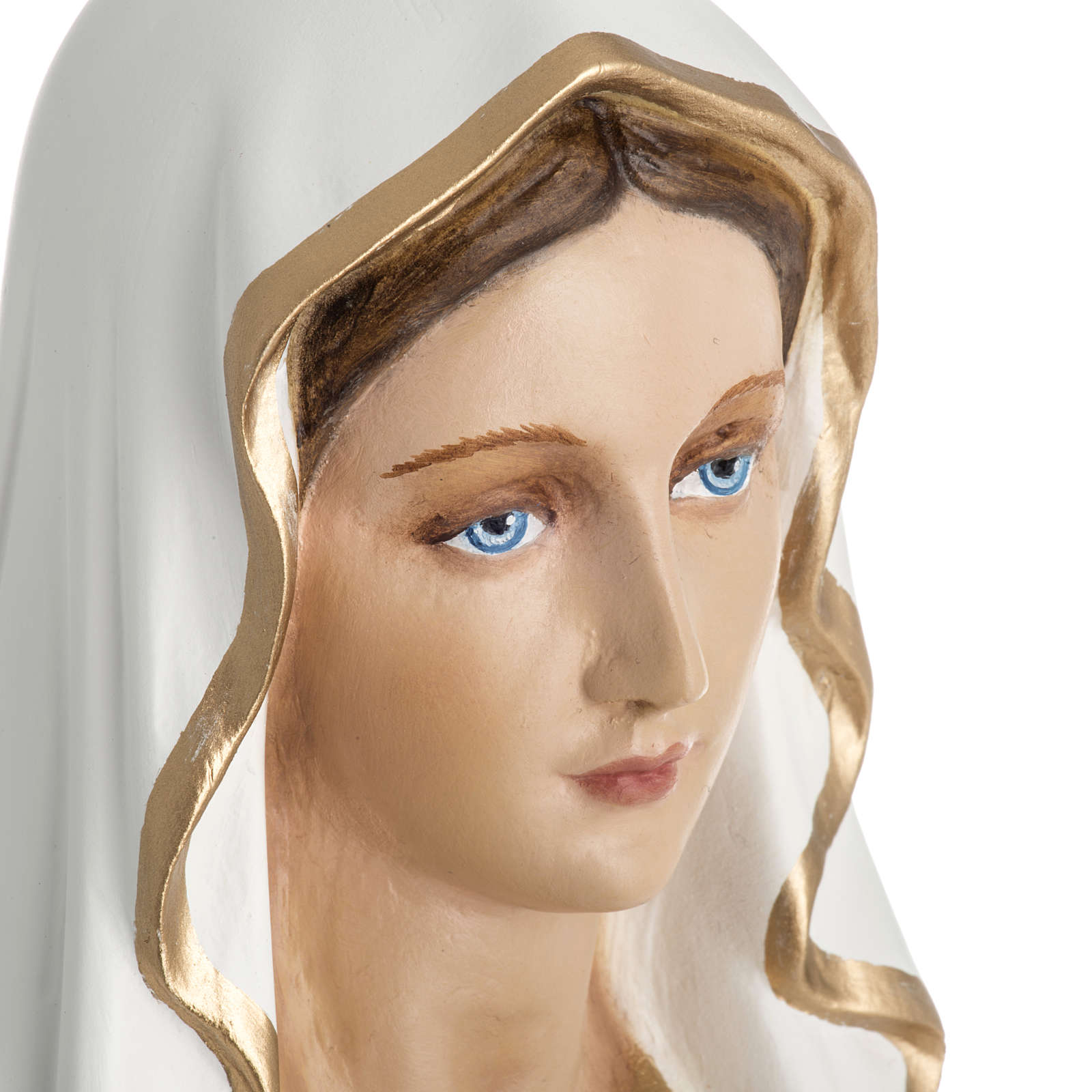 Our Lady of Lourdes statue in fiberglass, 60 cm 4