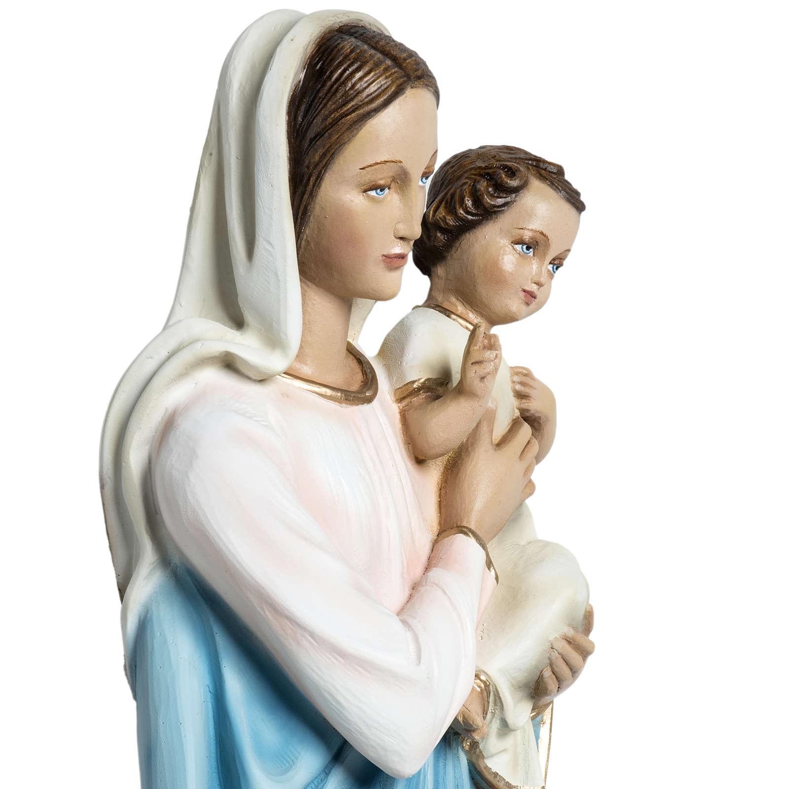Virgen con el niño para bajorrelieve 60 cm. fibra de vidrio 4