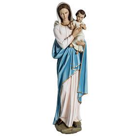 Virgen con el niño para bajorrelieve 60 cm. fibra de vidrio s1